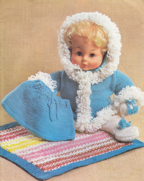 Tiny Tears Knitting Patterns : vintage tiny tears doll knitting pattern 1977