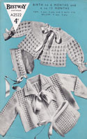 vintage baby knitting pattern matinee coats 1940s vintage knitting patterns