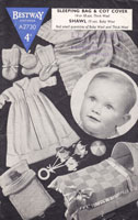 vintage baby knitting pattern sleping bag cot cover 1940s