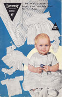bestway layette vintage baby knitting pattern 1950s