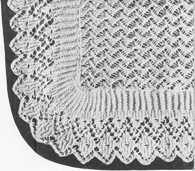 Free Knitting Pattern For A Baby Shawl : Hand Knitted Shawls, Covers and blankets knitting patterns ...
