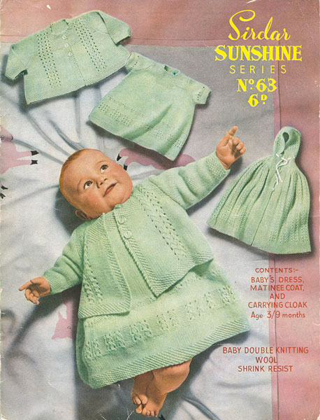 Knitting Patterns Hats For Beginners : Vintage Baby Clothes Knitting Patterns from The Vintage Knitting Lady