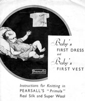 vintage baby knitting pattern 1940sdress