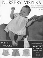 vintage baby dress knitting pattern 1930s viyella