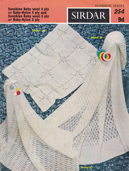 Old Sirdar Knitting Patterns : Hand Knitted Shawls, Covers and blankets knitting patterns available from The...