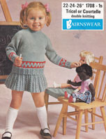 vintage childs skirt and jumper knitting pattern