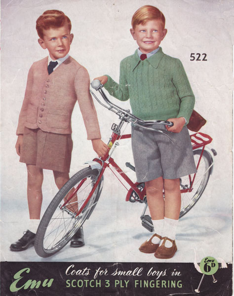 vintage knitted childrens clothes patterns available from