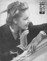 vintage 1940s ladies hat and glove knitting pattern
