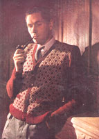 vintage fair isle cardigan knitting pattern from 1940s