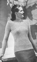 vintage ladies jumper knitting pattern from 1947 pattern