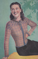 vintage ladies continetal style jacket knitting pattern from 1947