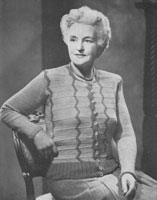 vintage older ladies knitting pattern from 1947