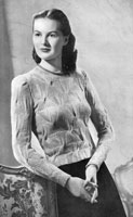 vintage ladies unusual jumper kntiting pattern from 1947