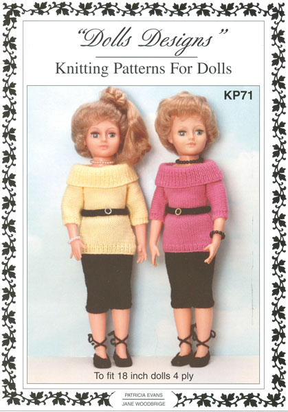 Knitting Patterns For Teenage Dolls : Modern knitted dolls clothes patterns available from The ...