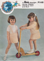 vintage girls knitted skirt and jumper patterns