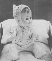 vintage dolls knitting pramset patterns
