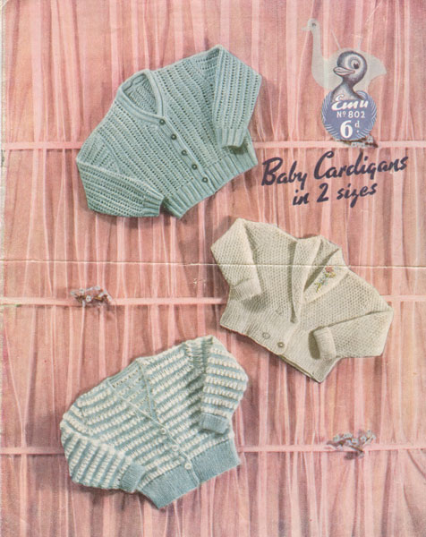 Knitting Patterns Uk Baby : Vintage baby clothes knitting patterns from the