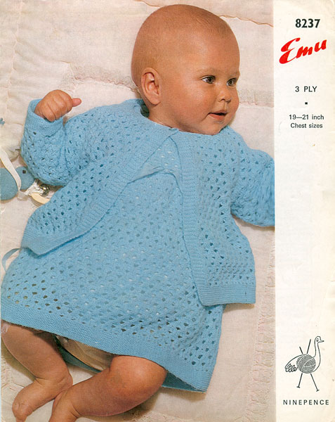 Knitting Pattern Baby Chest Sizes : Vintage Baby Clothes Knitting Patterns from The Vintage Knitting Lady