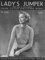 ladies 1930s jumper knitting pattern patons 2228