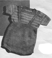 vintage buster suit with fair isle jumper knitting pattern for baby boy 1940s