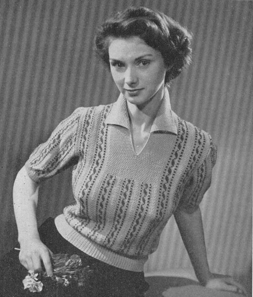 Old Knitting Lady : Vintage ladies fair isle knitting patterns available from