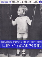baby boys 1930s knitting pattern for buster suit