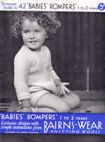 vintage 1930s knitting patternromper suits