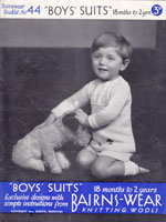 vintage boys buster suits knitting pattern 1930s