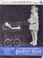 baby girls coat and legging pram set knitting pattern 1930s