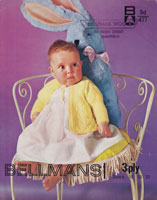 vintage baby matinee jacket knitting pattern 1960s
