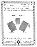 vintage baby body belts knitting 1920s