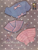 vintage baby knitting pattern 1950s hug me tights boleros