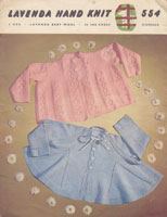 vintage baby 1950s knitting pattern matinee jackets
