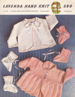 vintage 1950s matinee jacket knitting pattern
