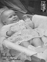 vintage baby layette knitting pattern