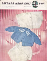 vintage baby knitting pattern crosover hug me tight cardigans