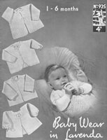 vintage baby matinee coat kniting pattern 1940s