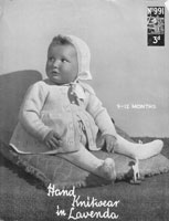 vintage baby pram set 1940s knitting pattern