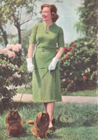 vintage dress knitting pattern for the lady with a fuller fugure 1940s