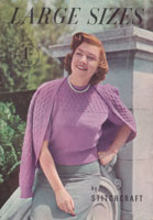 vintage ladies book with fashiond for the fuller figure knitting pattern from the 1950s