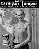vintage ladies golfing jacket from 1930s Hema 217