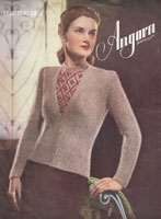 vintage ladies angora cardigan an gilet from 1930s
