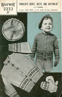 childs vintage fair isle knitting patterns