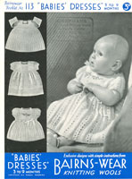 vintage knitting patterns for babies