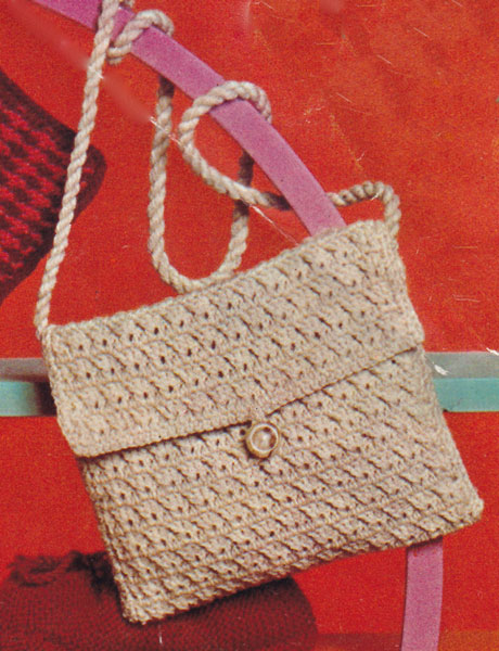 Double Knitting Bag Pattern : Vintage Ladies Knitted Bag knitting patterns available from The Vintage Knitt...
