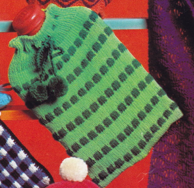 Knitting Pattern Hot Water Bottle Cover Double Knitting : Hot Water Bottle Cover knitting patterns available from ...
