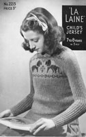 vintage childs fair isle jumper knitting pattern 1940s