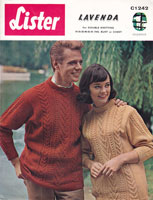 mens  and ladies aran style jumper in double knitting