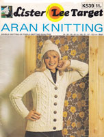 vintage ladies jacket and hat in aran 1970s