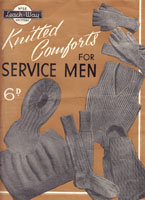 vintage service comforts knitting patterns 1940s